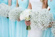 Or you had your bridesmaids carry baby's breath instead of pricey peonies.