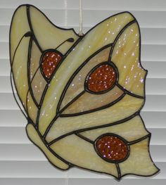 Stained Glass Sun Catcher Butterfly Window by TheMuleskinnerShop, $72.95
