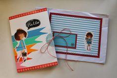 Gemaakte #snailmail met hergebruik van het boek Floddertje van Annie M.G. Schmidt / 365 Miles to Paris: Een heel vies meisje