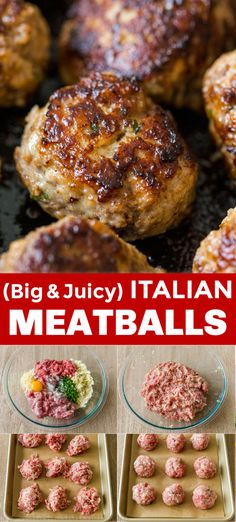 EASY Italian Meatballs Recipe Our go-to Meatball Recipe! Find out the secret to flavorful and juicy homemade meatballs. These are make-ahead, freezer-friendly, and perfect for meal prep. Juicy Meatball Recipe, Homemade Meatball Recipes, Recipe For Meatballs, Easy Homemade Meatballs, Meatballs In Oven, Best Italian Meatball Recipe, Ground Turkey Meatballs, Gluten Free Meatballs, Ground Beef