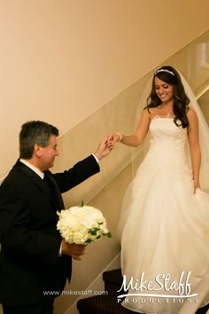 Bride and father right before ceremony.