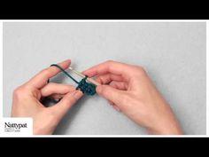Natalie of Nattypat Crochet demonstrates how to half double crochet (hdc).  —Crochet Patterns & More: http://NattypatCrochet.com