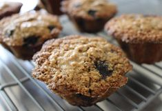 Vegan, gluten and cane sugar-free blueberry muffins -- my husband's favorite!