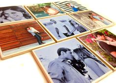 Personalized Photo coasters Set of 6 (8 under special request) House warming present, bridal shower, wedding, engagement party, Anniversary, really any one of a kind gift, this is the one for you! Just email us your favorite images and we will make sure you have a one of a kind gift your friends and family will never forget! We can coordinate with trays, boxes, frames or anything you'd like. Not included.