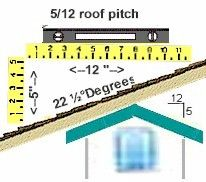 5 12 Roof Pitch Pitched Roof Roof Framing Roof