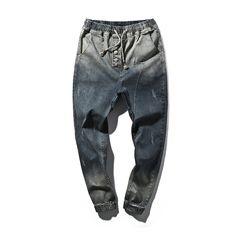 FAVOCENT 2017 Men's Fashion Denim Harem Pants Feet Pants Big Yards England Tide Of Japanese Male Pants M-5xl Free Shipping