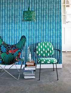 Vintage Chairs in a Colorful Mix: