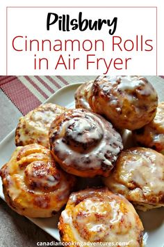 These Pillsbury Cinnamon Rolls are done in the Air Fryer. And come out Ooey Gooey good in no time at all! Great Recipes, Snack Recipes, Snacks, T Fal Fryer, Pillsbury Cinnamon Rolls, Air Fryer Cooking Times, Air Fryer Healthy, Fried Vegetables, Recipe Please