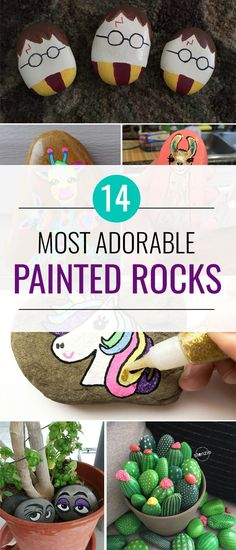 14 Most Adorable Painted Rocks Ideas and Crafts. #paintedrocks #rocks #rockpainting #rockart #craft #craftsforkids #painting #crafts