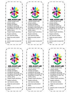Snugglebug University: Free Girl Scouts' Kaper Chart and Bookmark