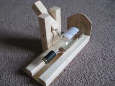 holder for cutting bottles   ... mind. The result is a nifty cutting jig I threw together this weekend