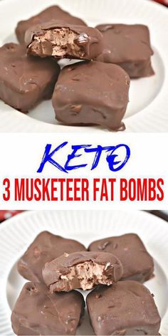 Keto fat bombs you won't be able to pass up! {Easy} low carb keto fat bomb recipe for the best 3 Musketeer Candy bar Chocolate fat bombs. Perfect ketogenic diet w/ keto friendly ingredients. Great keto snacks on Low Carb Cake, Low Carb Desserts, Low Carb Recipes, Diet Recipes, Cookie Recipes, Nutella Recipes, Diabetic Desserts, Simple Keto Desserts, Chocolate Recipes
