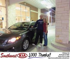 #HappyAnniversary to Jeff Mccormick on your 2010 #Toyota #Corolla from Teresa Toombs at Southwest KIA Rockwall!