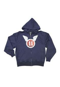 Vintage Navy Blue Zipper Hoodie With 11th Airborne Logo ! Buy Now at gorillasurplus.com