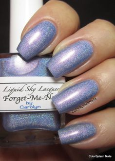 Liquid Sky Lacquer  - Forget-Me-Not (mini)- used for 1 mani - enough for at least 3 more manis , will send bottle shot on request. - $4 shipped.