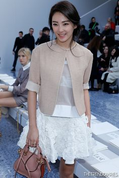 Zhang Yuki At The Chloé Show ( Jackets & Sweaters )