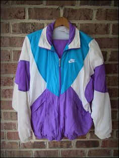 Vintage 90's Nike Purple Teal Track Jacket and Pants by CharchaicVintage, $35.00