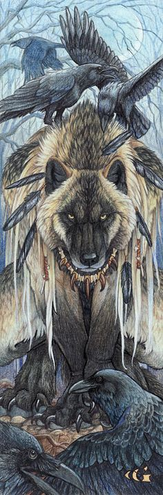 """""""His is the Lord of Ravens, a Kierrn that has a special bond with his intelligent corvids, using their magic to aid him. For wherever he is there will always be food for his shadowy companions."""