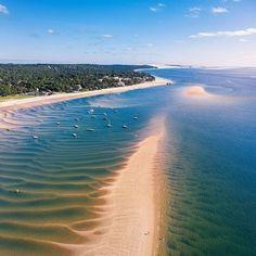 Piste cyclable Arcachon Dune du Pyla : notre itinéraire ! Le Pilates, Paradise Found, Belle Photo, Land Scape, Country Roads, Instagram, Beach, Water, Pin