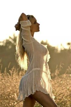 Love the silhouette of a beautiful woman in sheer cloth