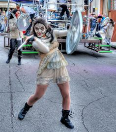 """HHN 21, Universal Studios Florida    The Halloween Horror Nights 21 show,""""Death Drums,"""" offereddistinctly different shows throughout the night. The earlier show featured dancers dressed as zombies.    Photo byMark Walter."""
