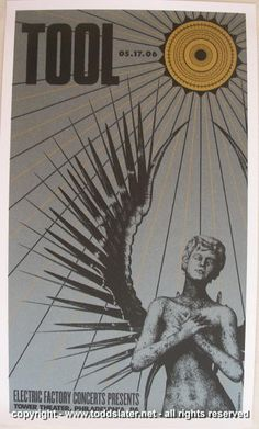 2006 Tool - Tower Theatre Concert Poster by Todd Slater