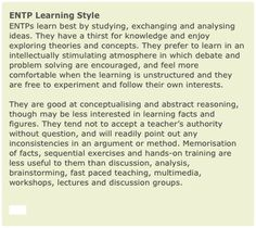 ENTP Learning Styles