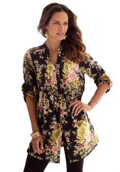 Roamans Women's Plus Size English Floral Bigshirt (Black,12 W) Roamans,http://www.amazon.com/dp/B00GSUEQW4/ref=cm_sw_r_pi_dp_CjF9sb1SPCBME55D