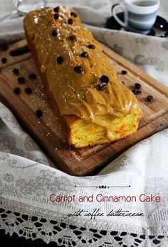 Chef Malhadinho: Bolo de Cenoura e Canela com Creme de Café | Carrot and Cinnamon Cake with Coffee Buttercream