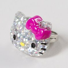 Say hello to #moreismore! Hello Kitty Glittery Face Ring