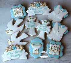 Baptism Reception, Baptism Party, Baptism Ideas, Christening Cake Boy, Baby Boy Baptism, Baptism Cookies, Mother's Day Cookies, Baby Shower, Cakes For Boys