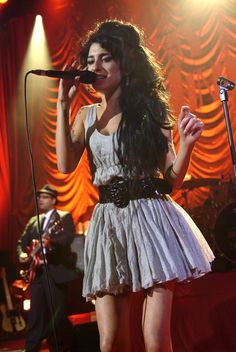 Image result for amy winehouse blue dress