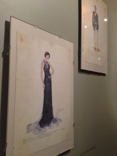 The Great Gatsby (2013) | Costume drawings displayed at the Century Guild, Culver City, CA.