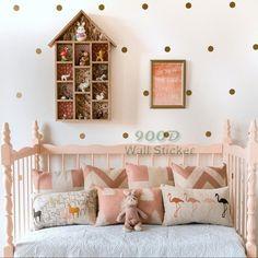 Gold polka Dots Wall Decal