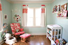 Create a welcoming environment for a new baby with bright paint colors and creative DIY projects.