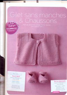 Tratto dal n 029 del 2009 di phildar è un numero speciale , contiene modelli facilissimi da realizzare anche per le principiantissime! Come si può vedere consta di 3 pezzi ( quelli a lato sono le … Baby Cardigan Knitting Pattern Free, Baby Knitting Patterns, Baby Patterns, Knitting For Kids, Knitting Projects, Crochet Baby, Knit Crochet, Knit Baby Sweaters, Baby Vest
