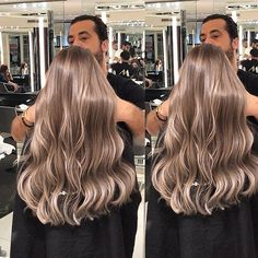 hair Hair color by Mounir Strong Wedding Dress Trends - Top Wedding Dress Styl Blonde Hair Looks, Brown Blonde Hair, Beige Hair, Champagne Blonde Hair, Medium Champagne Hair Color, Hair Color Balayage, Bronde Haircolor, Light Hair, Cool Hair Color