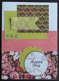 This fun card was created using the new IVY LANE paper packet from the new Close to My Heart Idea Book  http://chris.ctmh.com
