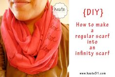 DIY Clothes DIY Refashion: DIY Infinity Scarf Tutorial