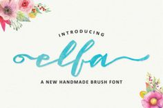 http://The Elfa Brush font is a stunning handmade font created by Fittingline Type Supply.