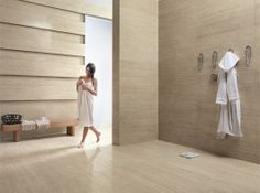 """Kerlite """"Travertino"""" by Cotto D'Este a tile only 3mm thick replicating natural vein cut Travertine stone - perfect to lay on top of existing floor tiles"""