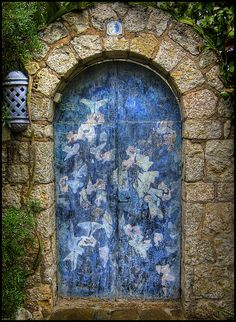 what's behind the blue door?