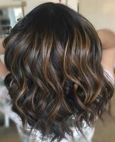 chocolate brown balayage highlights