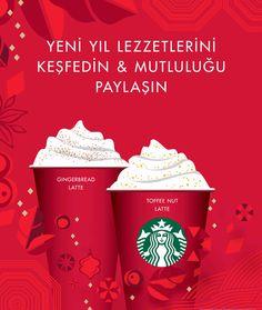 #Starbucks'ın yeni yıl lezzetlerini keşfedin ve mutluluğu paylaşın!   Starbucks'ın özel kırmızı yeni yıl bardaklarında Toffee Nut Latte ve  Gingerbread Latte'nin doyumsuz tadına varırken,  geleneksel harmanı Christmas Blend ile yeni yıl ruhunu  dilediğiniz her an, her yerde yaşamanın keyfini çıkarın.  Starbucks #MaltepePark'ta.