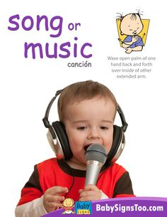 Free poster with the ASL sign for SONG/MUSIC www.BabySignsToo.com #BabySigns #babysignlanguage #ASL