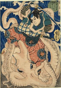 The Giant Octopus  by 	Kuniyoshi  Date: 	ca.1834
