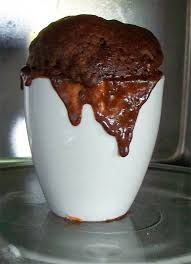 The picture says it all - yum - 30 second Self Saucing Chocolate Pudding in a Mug