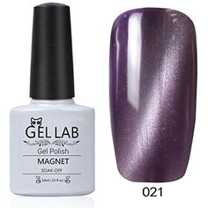 GEL LAB 10ml Black Purple 3D Cats Eye Magnetic Gel Nail Polish Nail Salon Need Top Coat Foundation and Magnet UV Lamp CE021 ** Be sure to check out this awesome product. (This is an affiliate link and I receive a commission for the sales)
