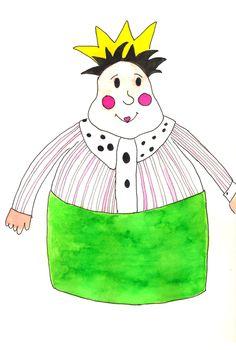 Illustratie gemaakt tijdens de workshop: illustreren met ecoline bij Sterrig.