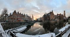 Brugge, Belgium Visiting in the winter would be surreal!